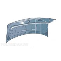 Крышка багажного отсека для VW Polo седан, VAG 6RU827025C
