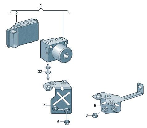 Агрегат системы ABS VW Polo седан с блоком управления