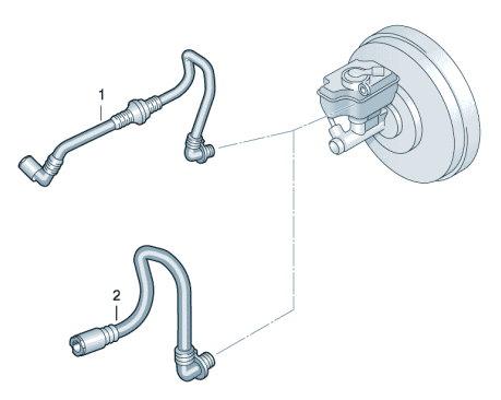 Вакуумные шланги для усилителя тормозного привода VW Polo седан