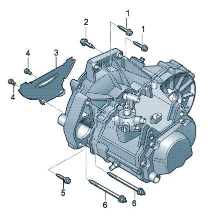 Детали крепления для двигателя и МКП VW Polo седан