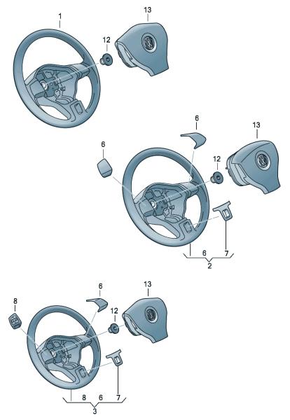 Рулевое колесо VW Polo седан