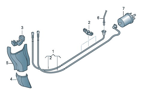 Топливопровод Volkswagen Polo седан
