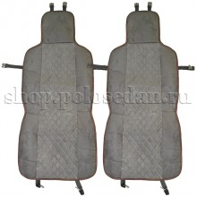 Накидки на сиденья (алькантара) для VW Polo седан, комплект 2 шт