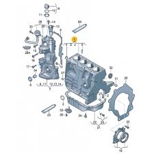 Блок цилиндров с поршнями, коленвалом и подшипниками для VW Polo седан, VAG 03C103101T