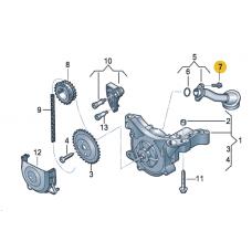 Винт с цилиндрической головкой и внутр. TORX (с шайбой), VAG N10124408