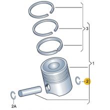 Кольцо, пружинное стопорное для VW Polo седан, VAG N90454001