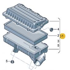 Корпус воздушного фильтра для VW Polo седан (АКПП), VAG 036129611CN