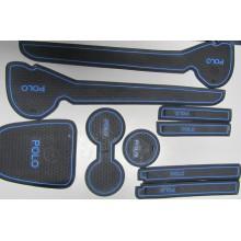Набор силиконовых ковриков в WV Polo (Синие) *