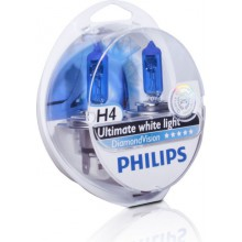 Галогенная лампа (2шт) для VW Polo седан (с 2010 г.в. по н.в.), Philips H4 Diamond Vision (5000K) (2шт.)