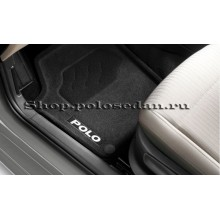 Коврики в салон велюровые для VW Polo седан, VAG 6RU061445WGK