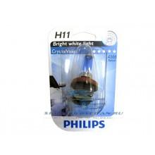 Лампа PHILIPS H11 CV 12V, 55W, PGJ19-2 Crystal Vision
