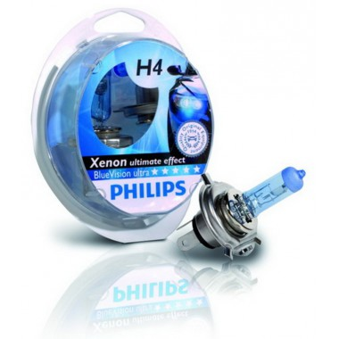 Галогенная лампа (2шт) для VW Polo седан (с 2010 г.в. по н.в.), Philips BlueVision ultra