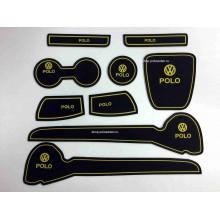Набор силиконовых ковриков в WV Polo седан (Желтые)*