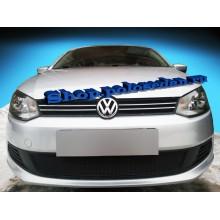 Защита радиатора VW Polo седан PREMIUM (c 2010 г.в. по 2015 г.в.) (черная)