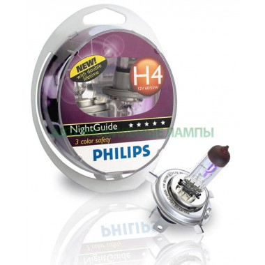 Галогенная лампа (2шт) для VW Polo седан (с 2010 г.в. по н.в.), Philips NightGuide DoubleLife