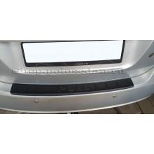 Накладка на задний бампер, пластик с загибом для VW Polo седан