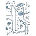 Жгуты проводов для положит. и отриц. выводов АКБ и генератора