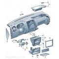 Детали, встроенные в панель приборов (верхн.)