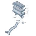 Воздушный фильтр с деталями соединения
