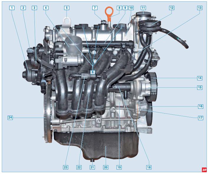 Двигатель CFNA и прилегающие к нему элементы