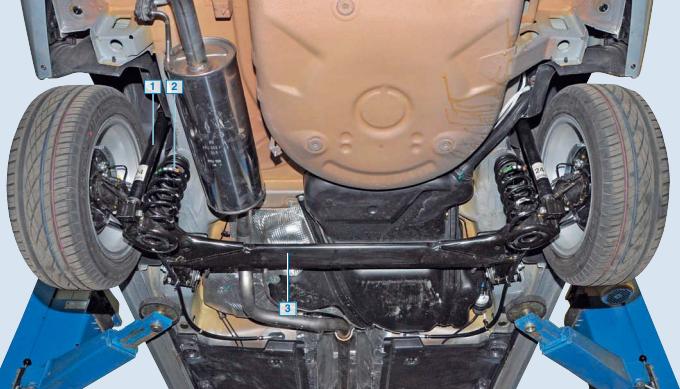 Задняя подвеска VW Polo седан