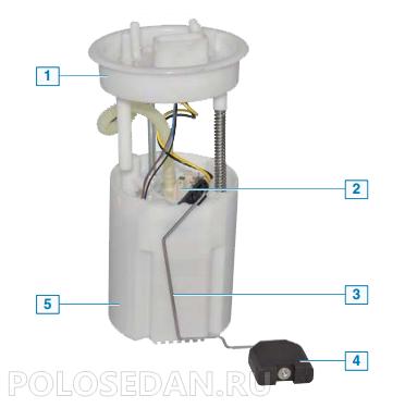 Топливный модуль VW Polo седан