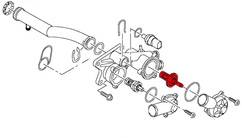Термостат 83С-98С для VW Polo седан