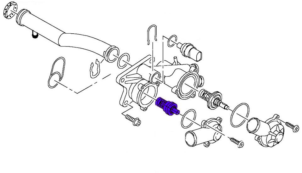 Термостат 87С-102С для VW Polo седан